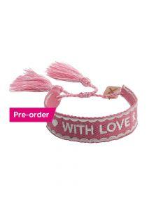 PRE ORDER - Pink Ribbon - Armband 2021 NL Donkerroze - Limited Edition (verzending vanaf 20 september 2021)