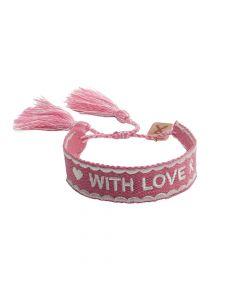 Pink Ribbon - Armband 2021 NL Donkerroze - Limited Edition
