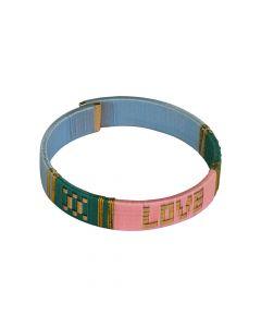 PSCALLME armband Love Bangles Roze