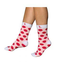Pink Ribbon Sokken Pink Dots