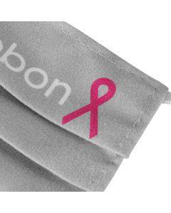Pink Ribbon Mondkapje - Grijs